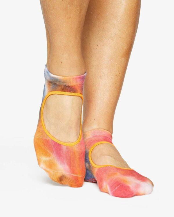Elise Grip Sock Cyber Red - BELE Fit