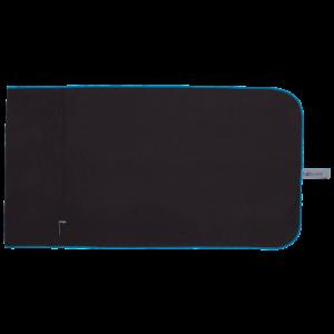Microfibre Gym Towel Black/Blue - BELE Fit