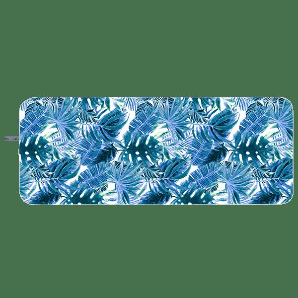 Microfibre Yoga Towel Blue Leaves - BELE Fit
