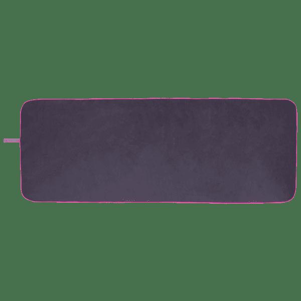 Microfibre Printed Yoga Towel Gunmetal/Pink - BELE Fit