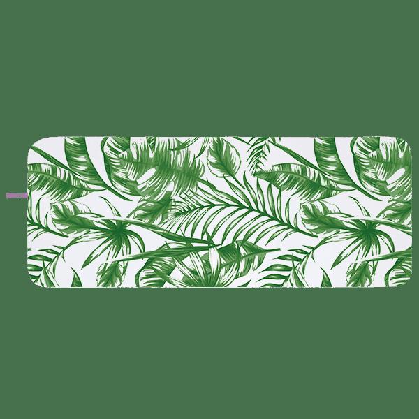 Microfibre Yoga Towel Green Leaves - BELE Fit