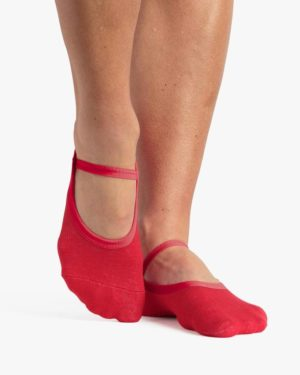 Karina Dance Sock Red - BELE Fit