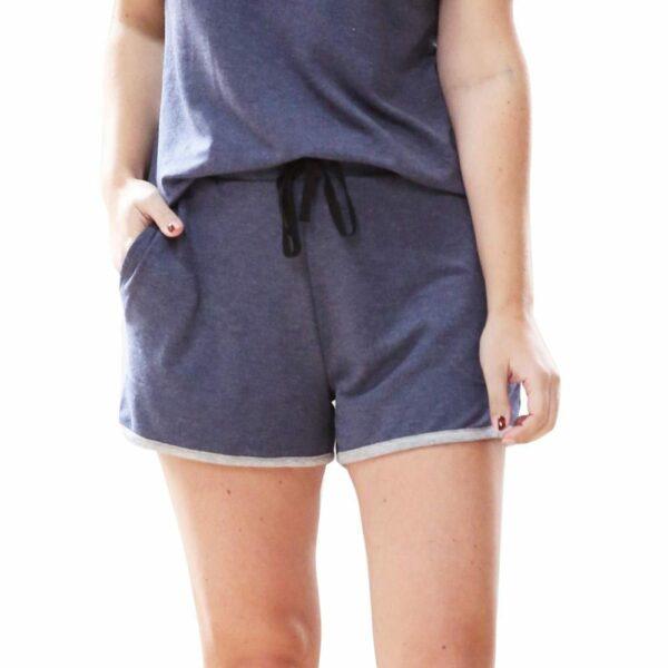 Weekender Pyjama Set Short Sleeve Navy - BELE Fit