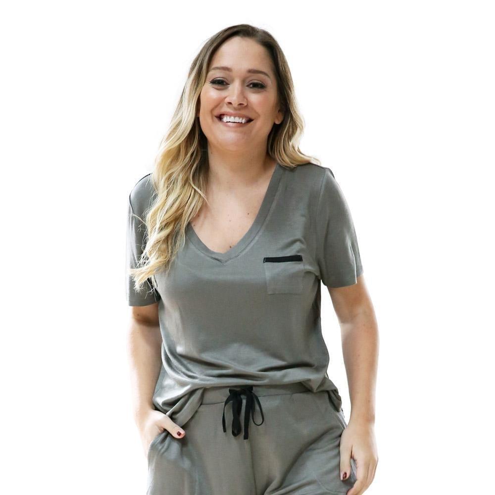 Weekender Pyjama Set Short Sleeve Moss - BELE Fit