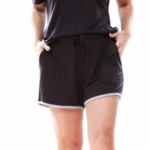 Weekender Pyjama Set Short Sleeve Black - BELE Fit