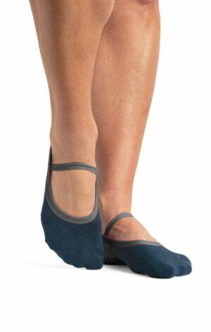 Piper Dance Sock Charcoal Blue - BELE Fit
