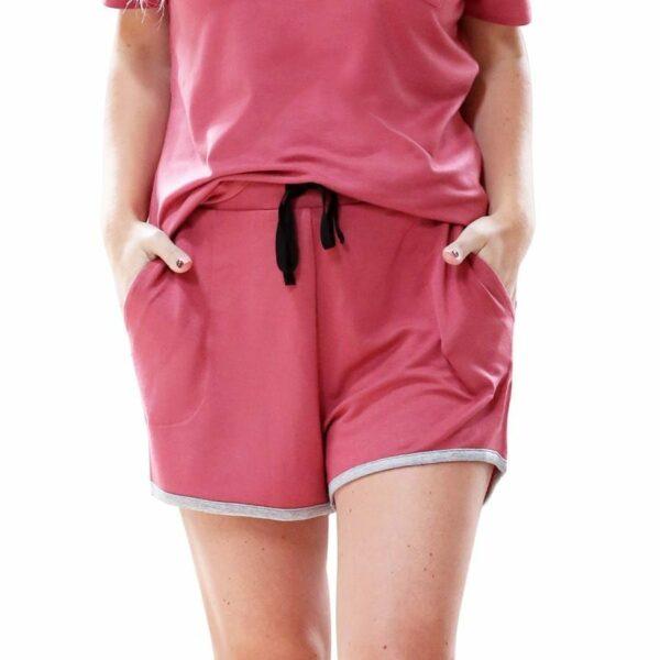 Weekender Pyjama Set Short Sleeve Salmon - BELE Fit